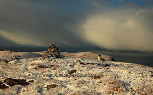 Cairn in the snow