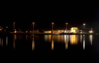 Dinish Pier at night