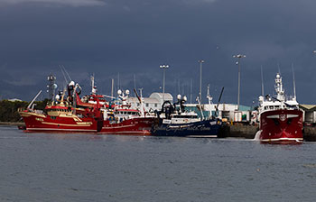 Trawlers at Dinish
