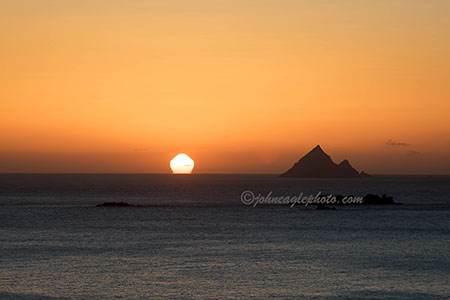 Blasket Island sunset 2