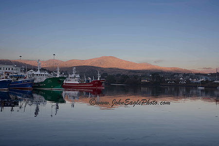 Castletownbere fishing fleet reflection