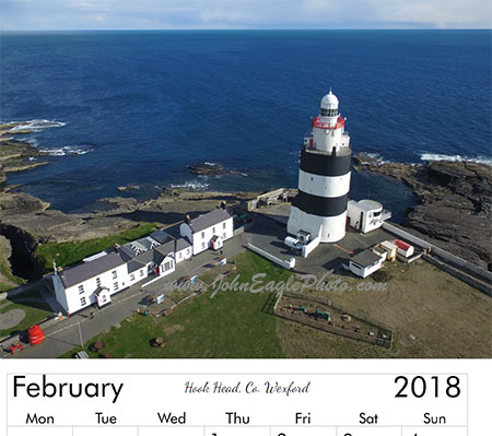 Irish Lighthouse Calendar sample