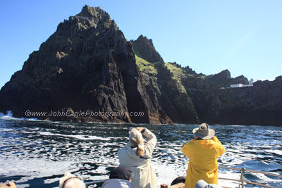 Viewing the lighthouse at Skellig Michael