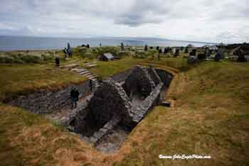 Sunken church on Inisheer