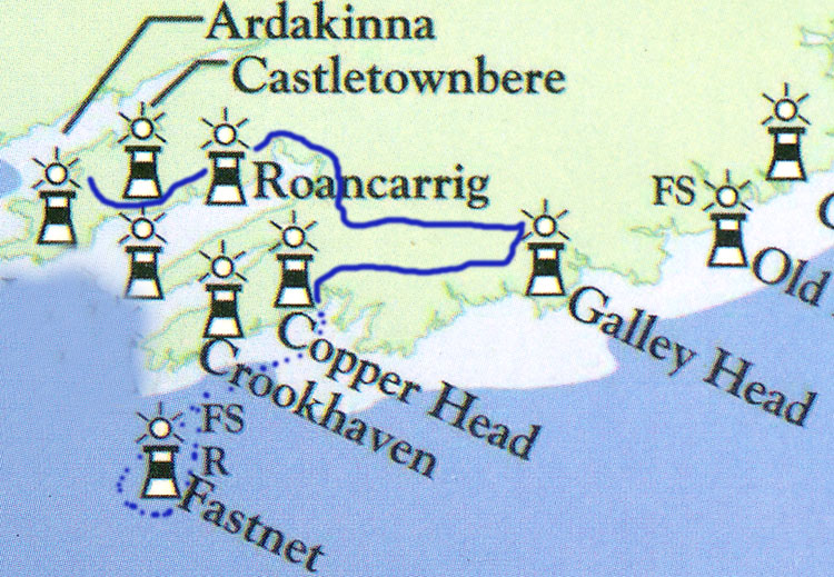 Journey from Beara to Galley and Fastnet
