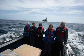 2015 tour group returning from the Fastnet